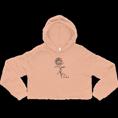 Be Kind Sunflower Ladies' Crop Hoodie