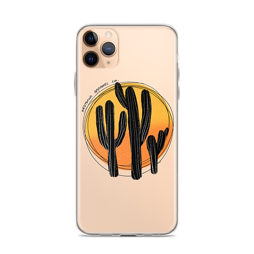 Cactus Sunset iPhone Case