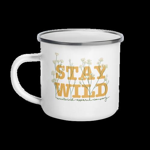 Stay Wild Enamel Mug