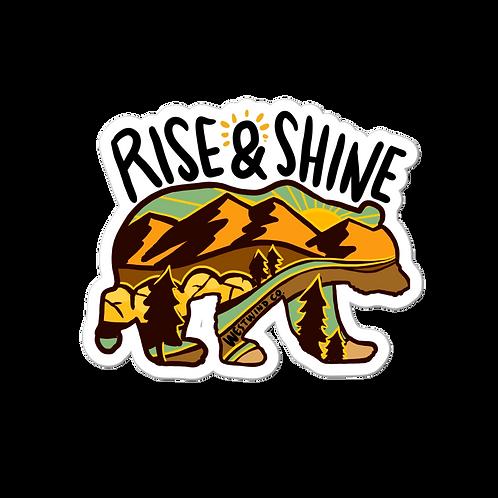 Rise and Shine Sepia Sticker