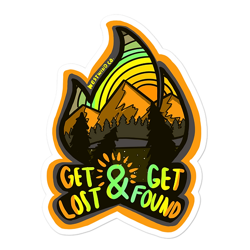 Get Lost, Get Found Sepia Sticker