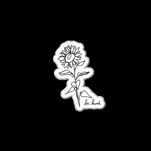 Be Kind Sunflower Sticker