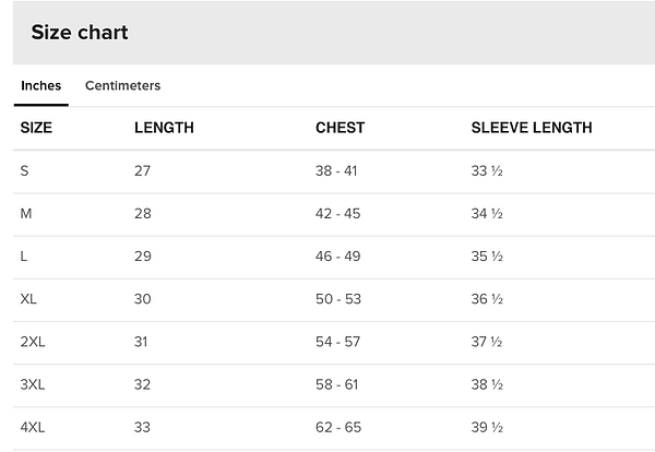 Size Chart Unisex Crew Neck Sweatshirt.p
