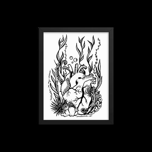Saltwater Heart Framed Print