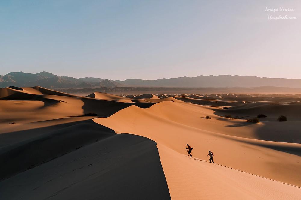 Mesquite Flats Sand Dunes - Death Valley, CA