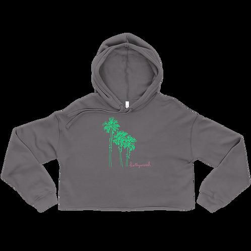 Hollywood Palm Ladies' Crop Hoodie