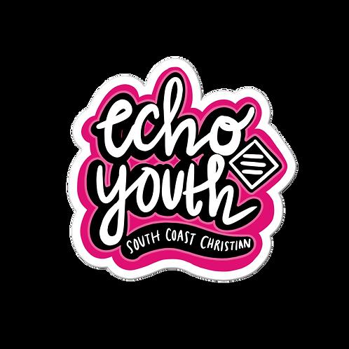 Echo Youth Street Art Sticker - PINK