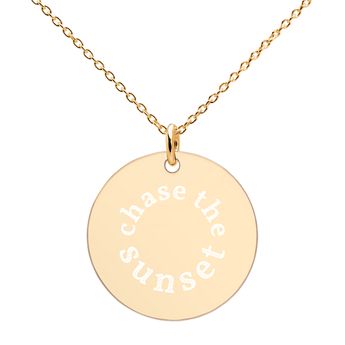 Chase the Sunset Engraved Necklace