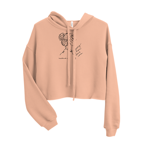 Messy Hair, Don't Care Ladies' Crop Hoodie