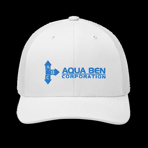 Aqua Ben Embroidered Trucker Cap