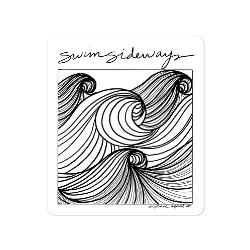 Swim Sideways Sticker