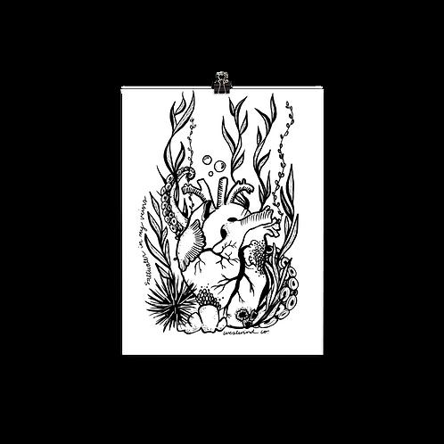 Saltwater Heart Print