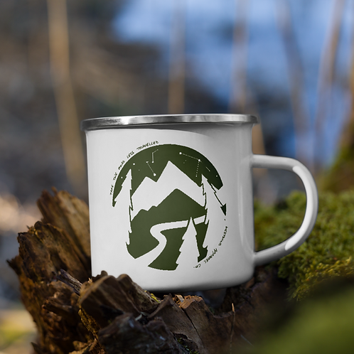 Road Less Travelled Enamel Mug