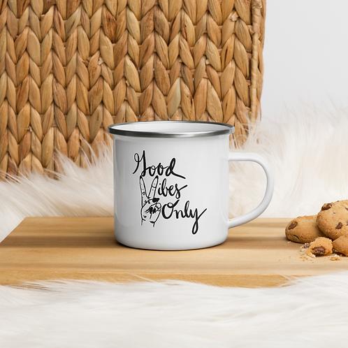 Good Vibes Only Enamel Mug