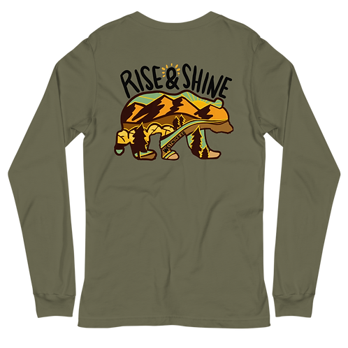 Rise and Shine Sepia Long Sleeve Tee