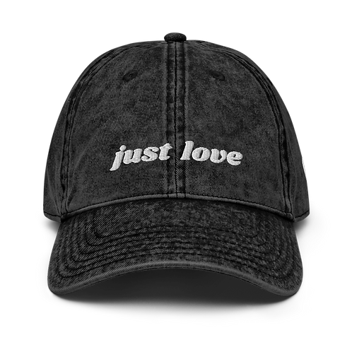 """Just Love"" Vintage Cotton Dad Hat"