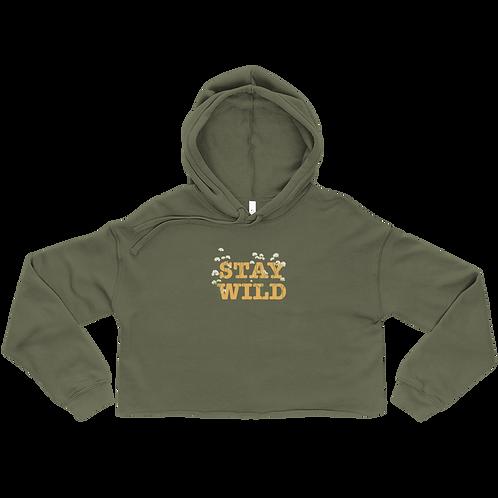Stay Wild Ladies' Crop Hoodie