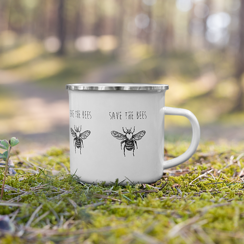 Save the Bees Enamel Mug
