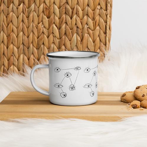 Here's Lookin' At You Enamel Mug