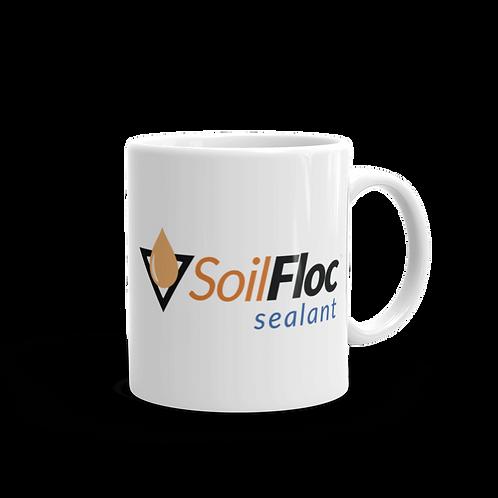 SoilFloc White Glossy Mug