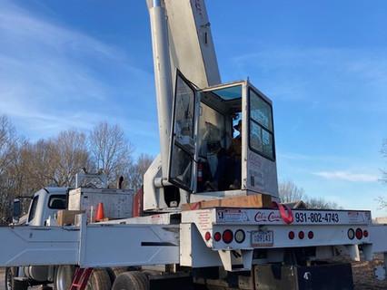 Crane in action