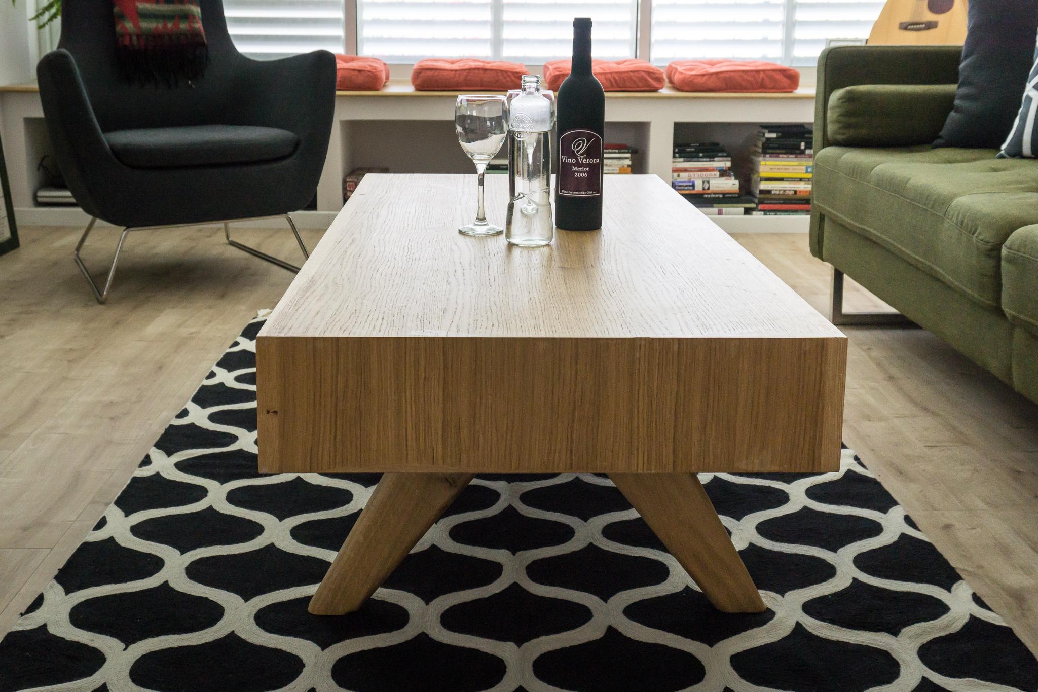 ספסל גבס, שטיח צמר מודרני