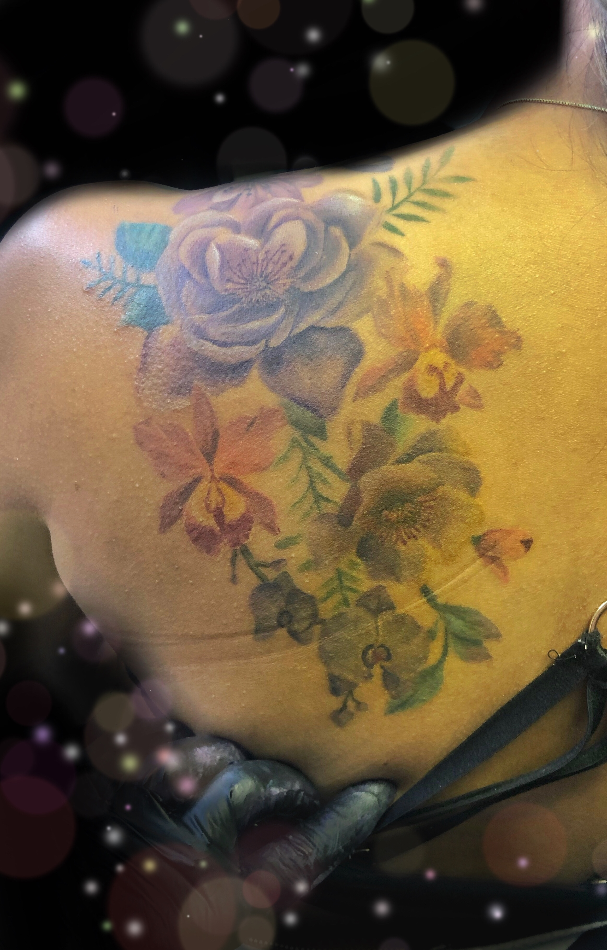 soft floral tattoo