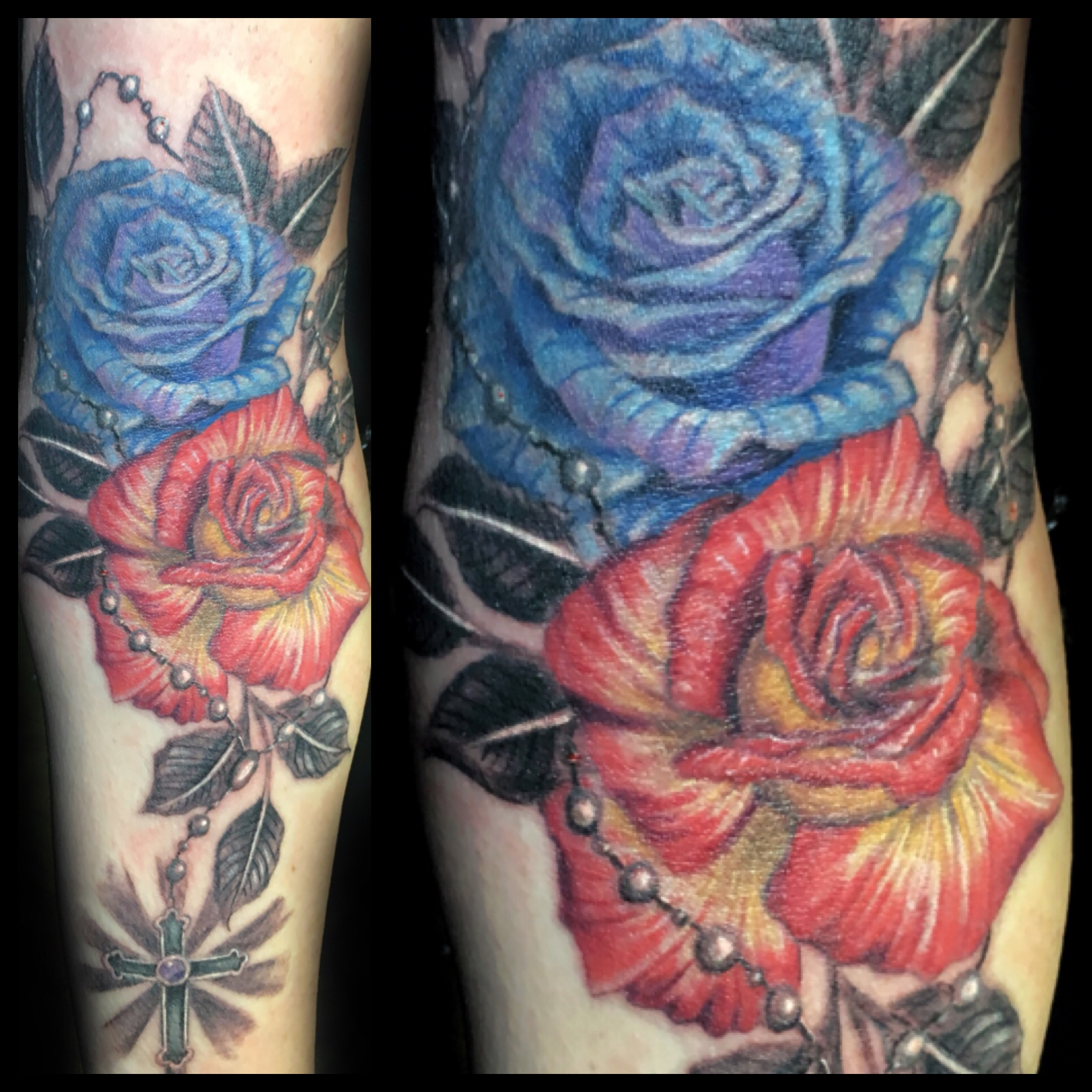 tattoo, tattoo shop, roses