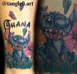 tattoo, tattoo shop, lilo and stitch