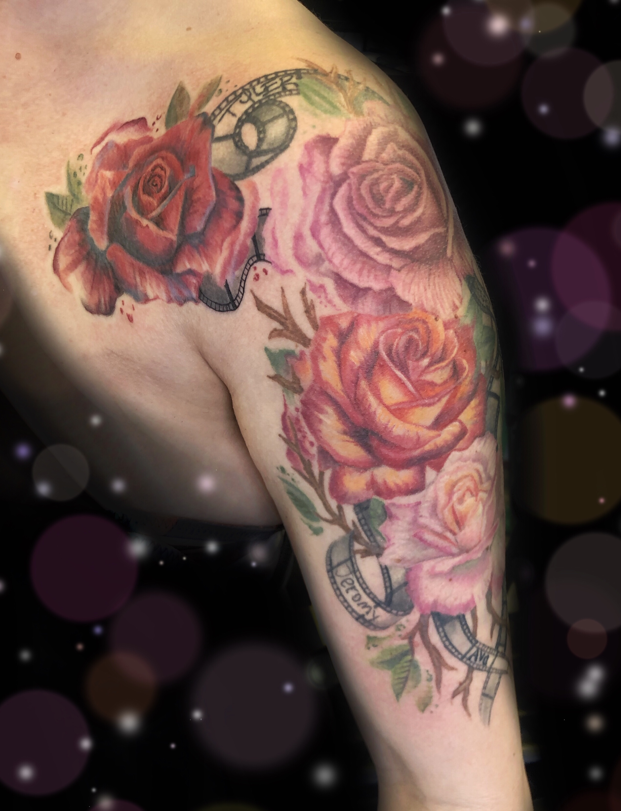rose film female tattoo