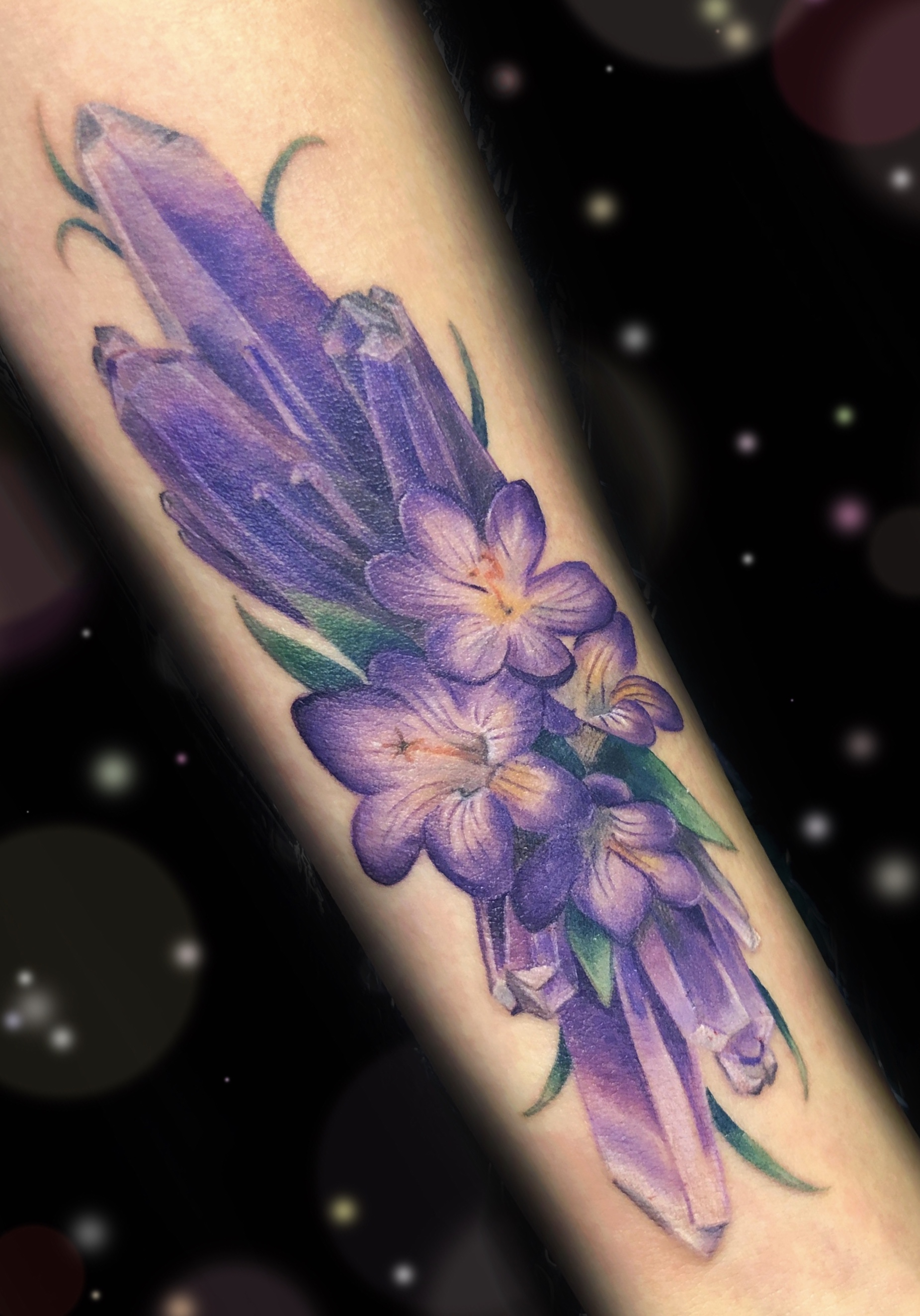 amethyst crystal tattoo