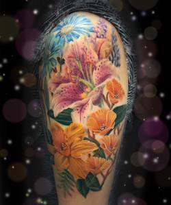stargazer lily daffodil tattoo