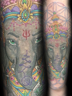 tattoo, tattoo shop, ganesh