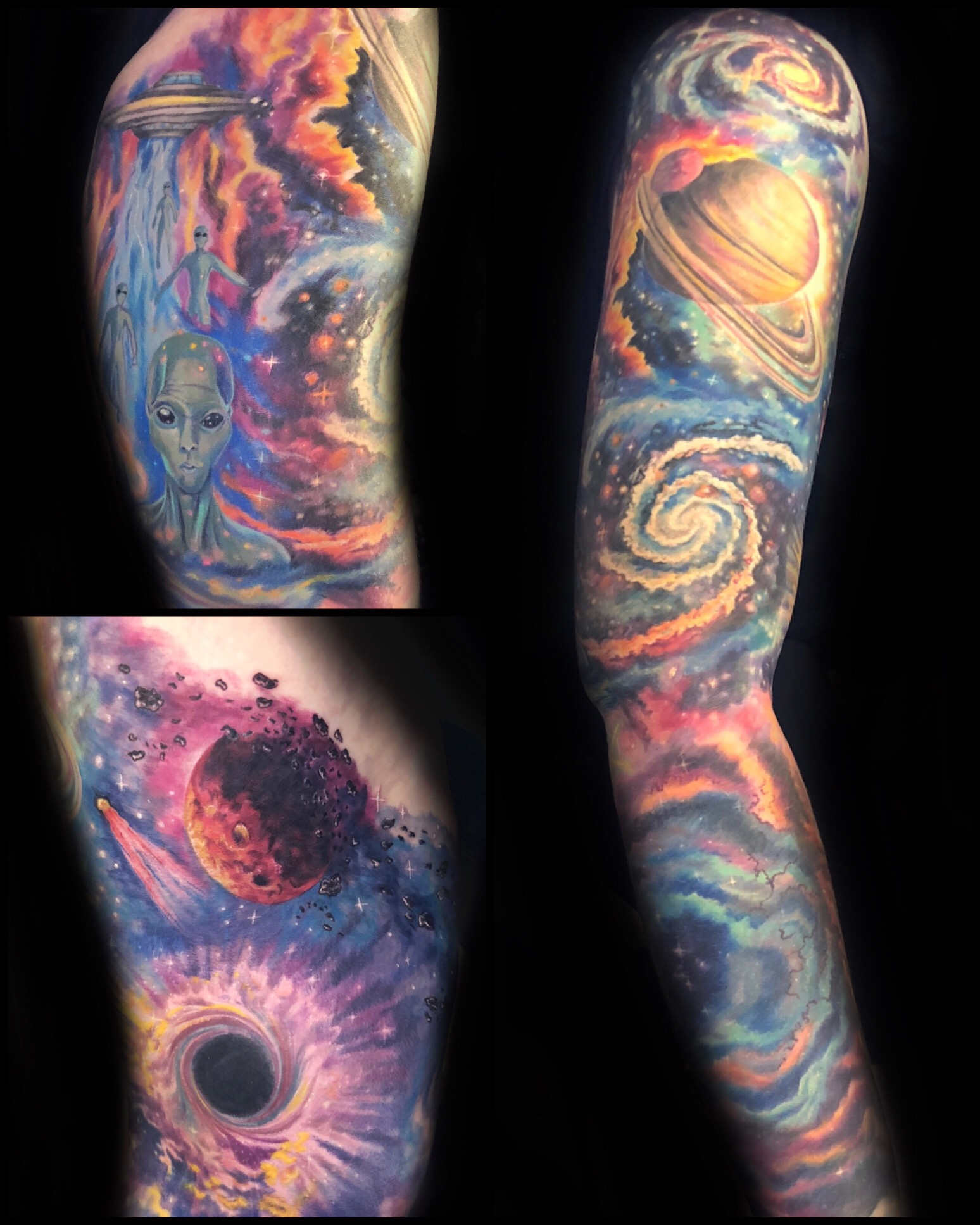 alien galaxy space tattoo