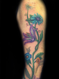 tattoo, tattoo shop, flower
