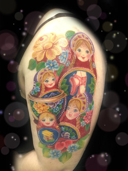 russian nesting dolls tattoo
