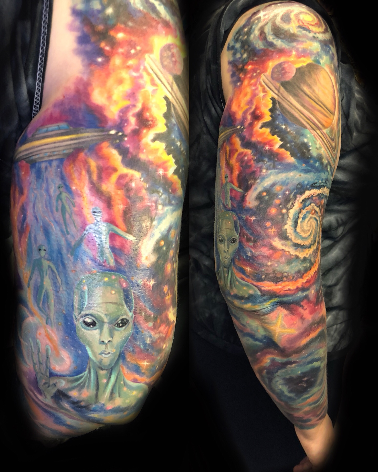 alien galaxy outerspace tattoo
