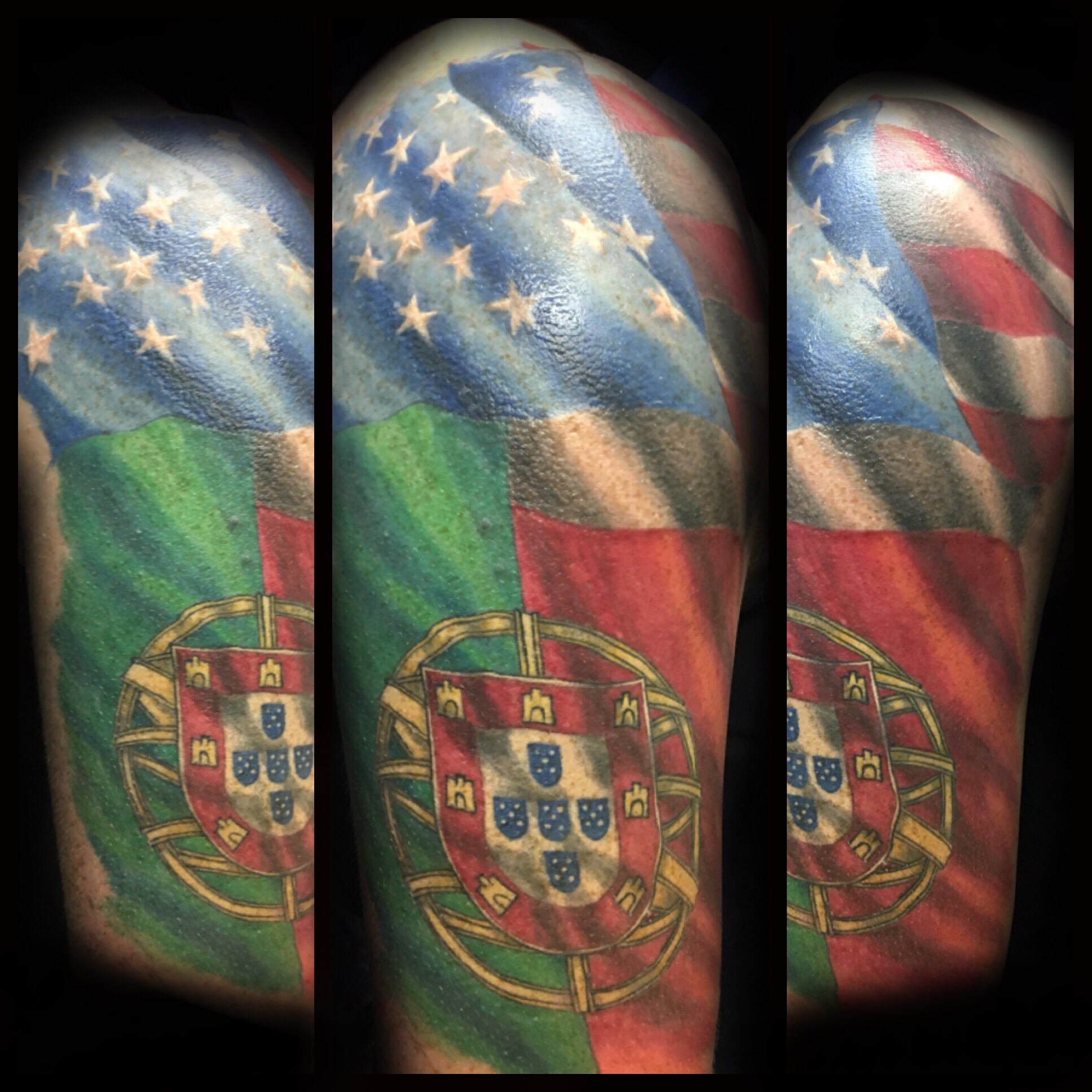 tattoo, tattoo shop, american flag