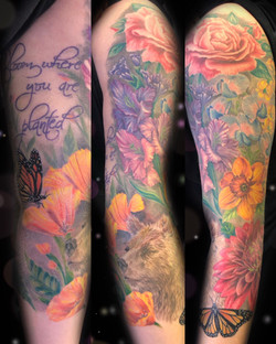 birth flower tattoo