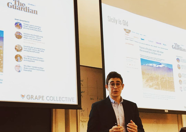 Intro to Sicilian Wine Presentation at Columbia University
