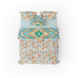 Printed Bed Linen with Floral Design