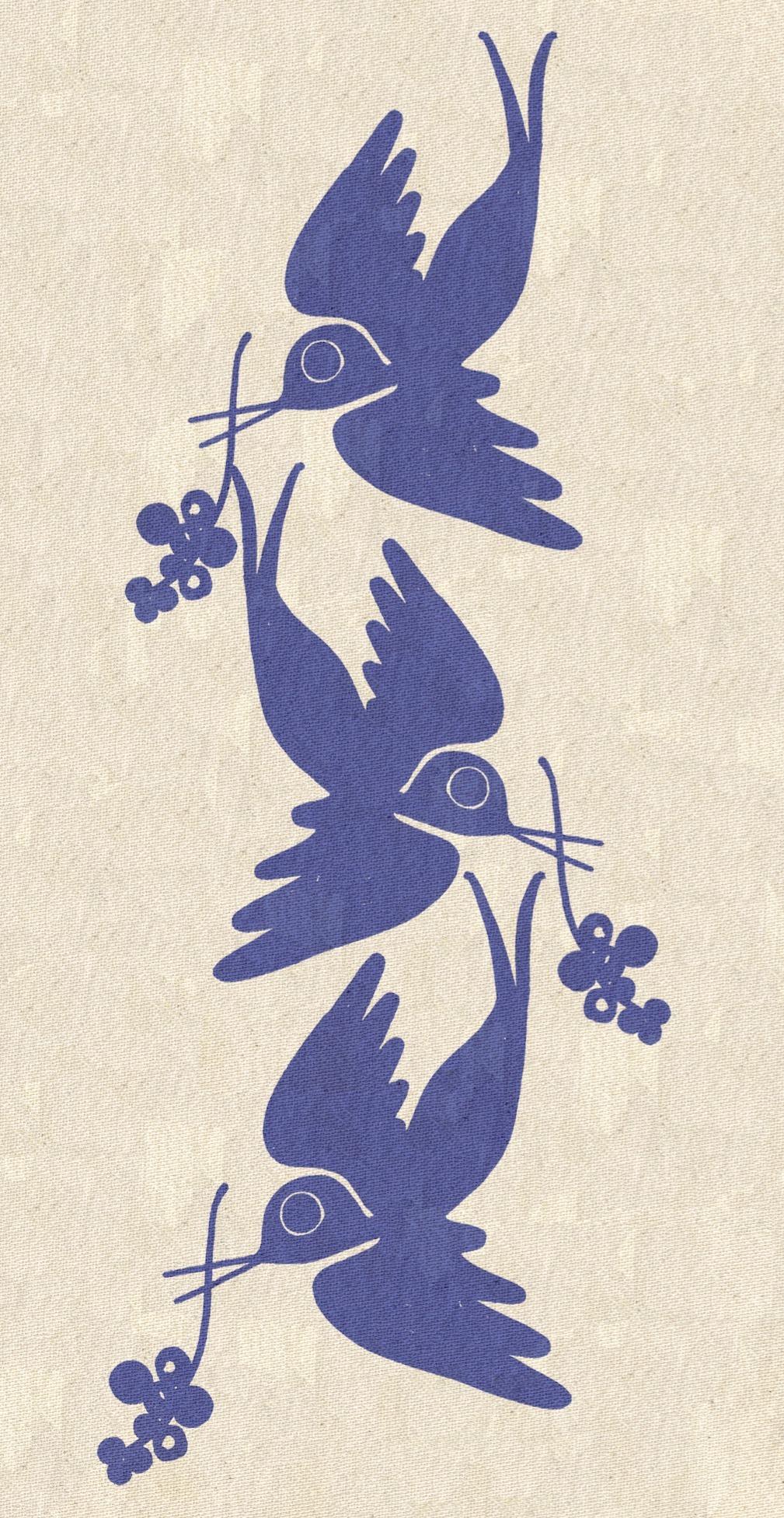 Swallow Print textile