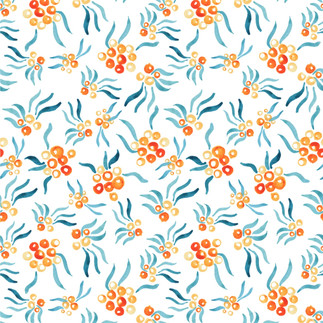 Painted Repeatv Pattern of Rowan Beries