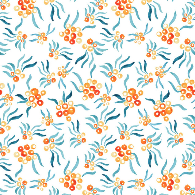 Painted Repeatv Pattern of Rowan Beries