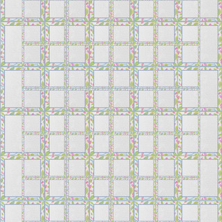 Quilt of Floral Squares