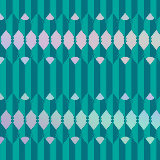 Teal Repeat Pattern