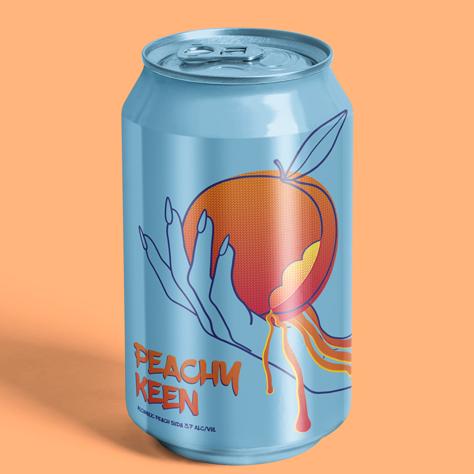 Peachy Keen Surface Design by HC GORDON