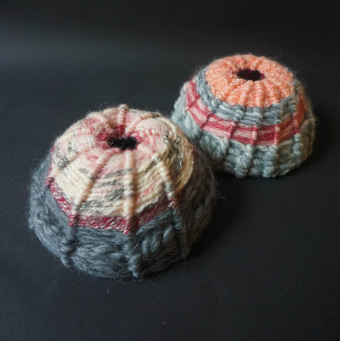 Molluscs, Yarn Wrapped Sculpture, 2021