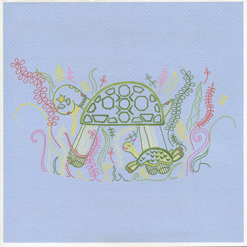 Turtle Party Print
