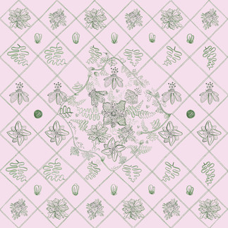 Diagonal Anemone Quilt